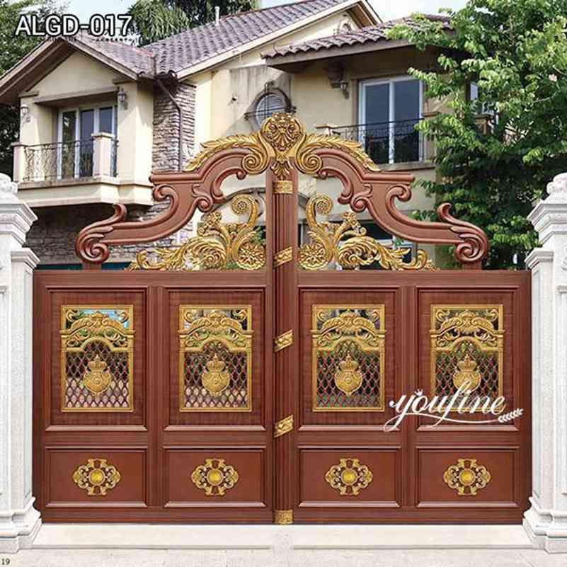 Modern Large Aluminum Gate Door for Estate Entrance for Sale ALGD-017