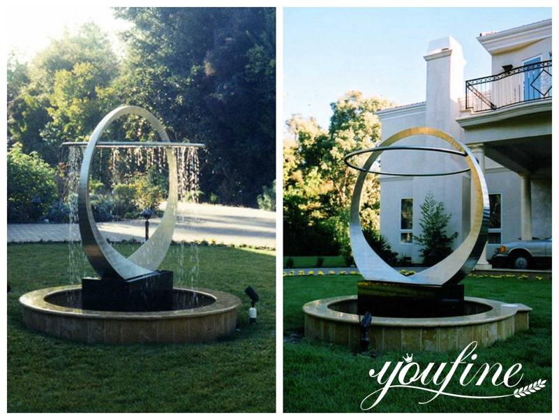 Modern Outdoor Metal Fountain Sculpture Hotel Garden Decor