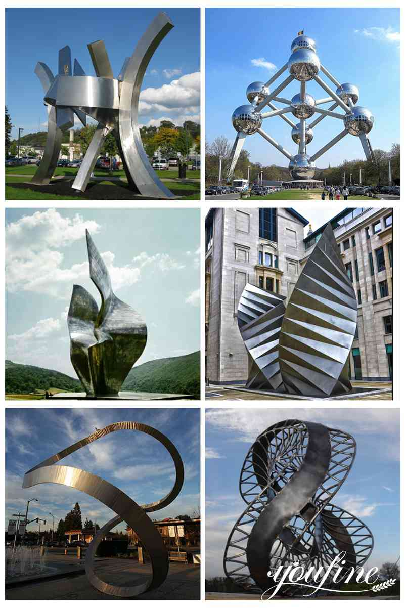 Modern Stainless Steel Leaf Sculpture Garden Decor for Sale