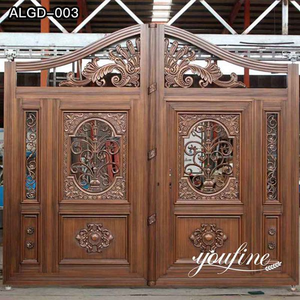Ornamental Customized Automated Driveway Aluminum Gate for Sale ALGD-003