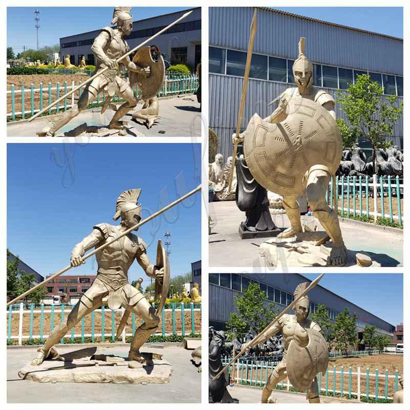 Outdoor Bronze Spartan Soldier Statue Factory Supply