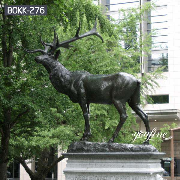 Casting Life Size Bronze Elk Statue Outdoor Square for Sale BOKK-276