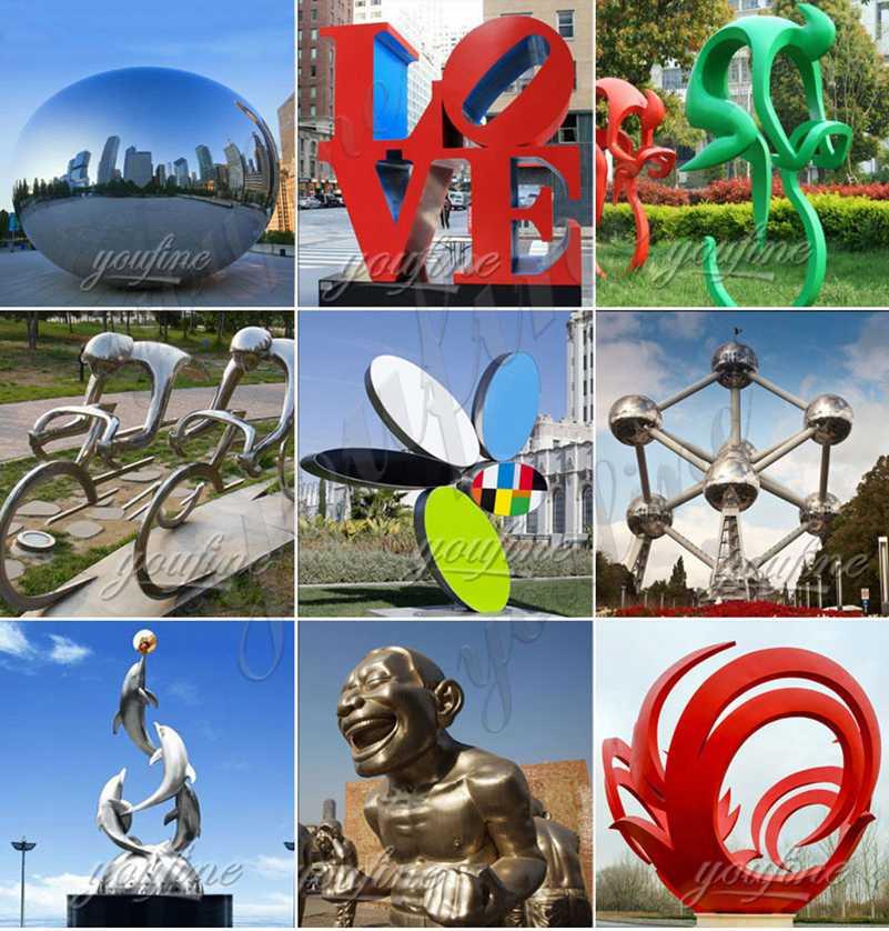 Outdoor Garden Metal Water Fountain Sculpture Decorative Art for Sale