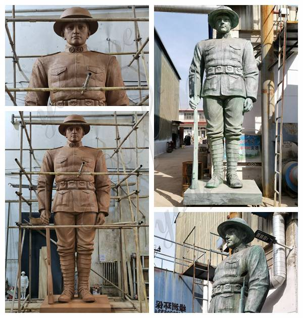 Outdoor Large Bronze Soldier Statue for American Client