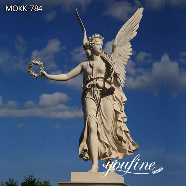 Outdoor Life Size Angel Marble Garden Statue for Sale MOKK-784