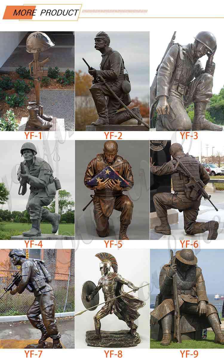 Outdoor Life Size Bronze Soldier Statue