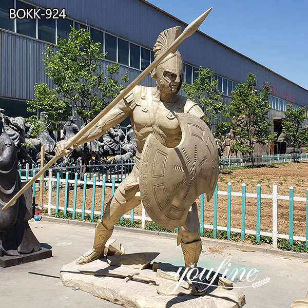 Outdoor Life Size Bronze Spartan Soldier Statue Factory Supply BOKK-924