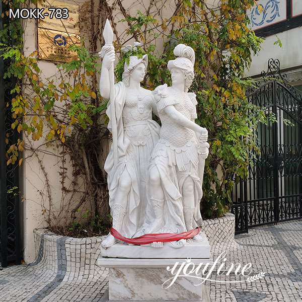 Outdoor Life Size Marble Figure Garden Statues for Sale MOKK-783