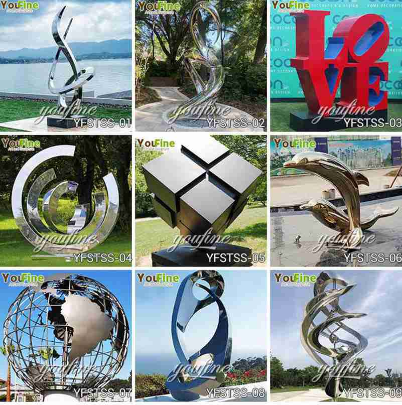 Outdoor Metal Art Stainless Steel Leaf Sculptures for Square