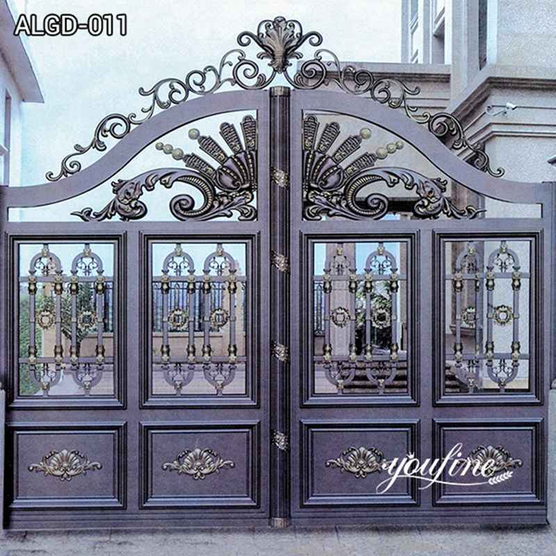 Outdoor Modern Aluminum Driveway Fence Gate for Sale ALGD-011