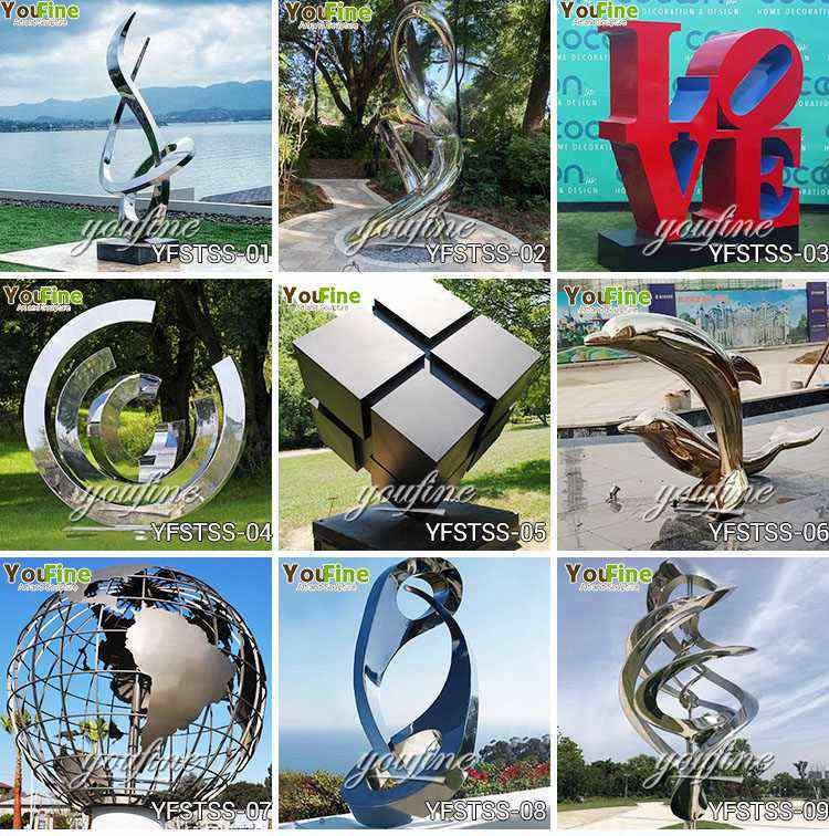 Outdoor large metal sculptures for sales