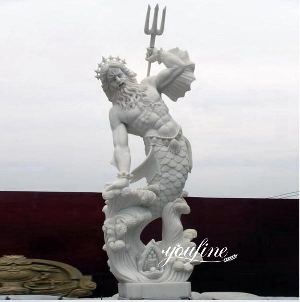 Garden Decor Life Size Poseidon Marble Statue for sale MOKK-778