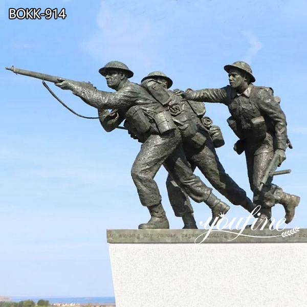 Soldier Life Size Military Bronze Statue for Sale