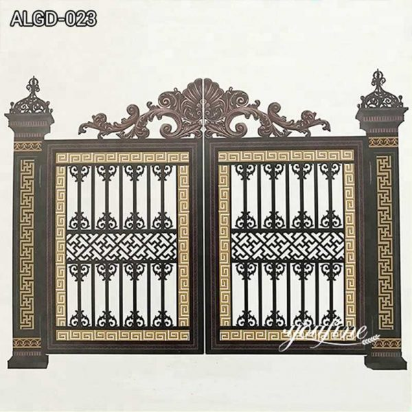 Solid Outdoor Aluminum Garden Gate for Sale from Factory Supply ALGD-023