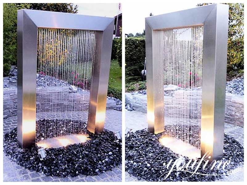 Stainless Steel Outdoor Fountain Sculpture for Sale