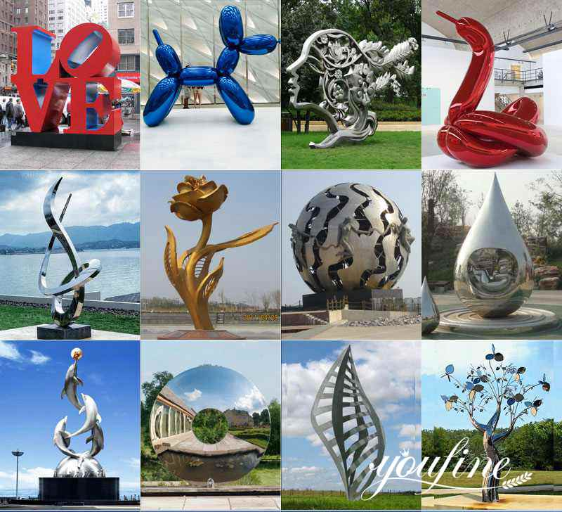 Stainless Steel Water Feature Sculpture for Sale