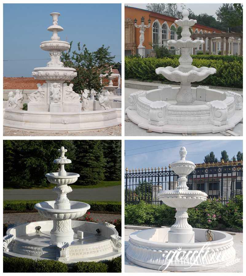 Tiered Marble Fountain Outdoor Villa Garden Decor for Sale
