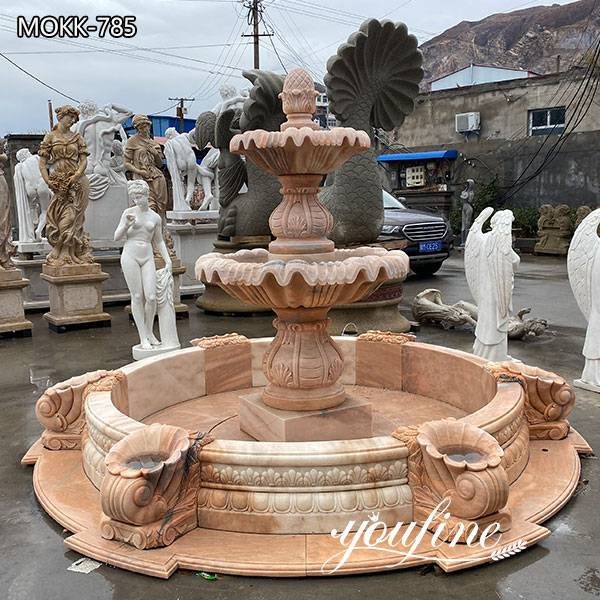Two Tiered Marble Water Fountain for Sale