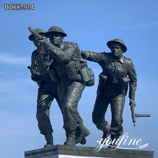 War Memorial Soldier Life Size Military Bronze Statue for Sale BOKK-915