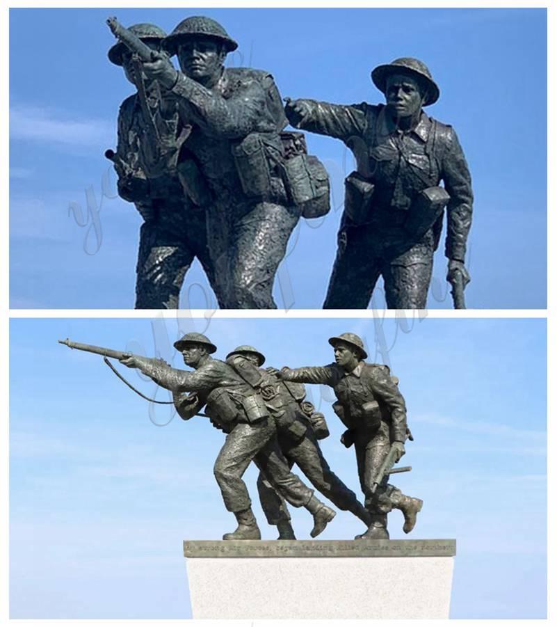 War Memorial Soldier Life Size Military Bronze Statue