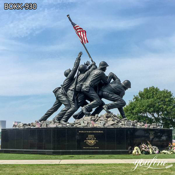 World War II American flag Bronze Soldier Statue BOKK-930