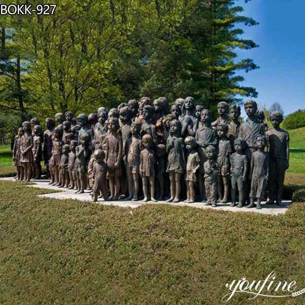 World War II Life Size Bronze Children Statue Factory Supply BOKK-927