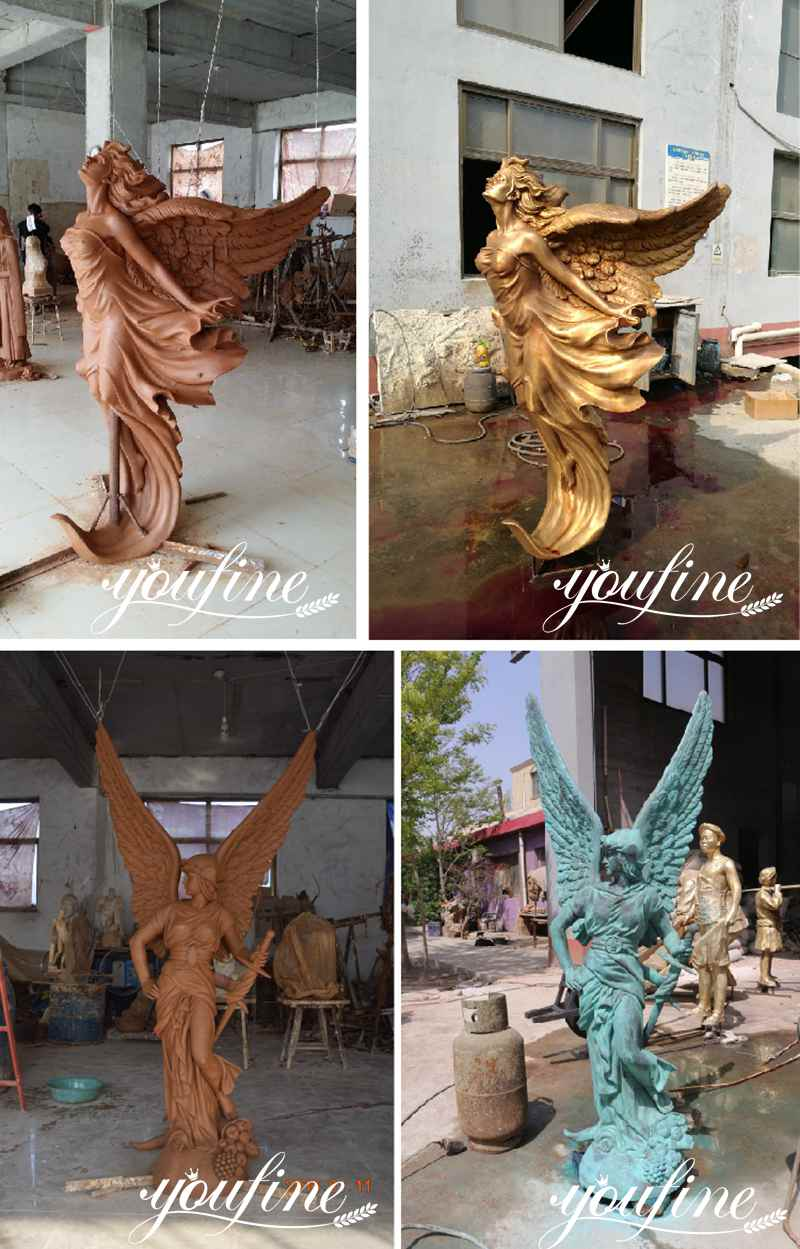 life size bronze angel sculpture