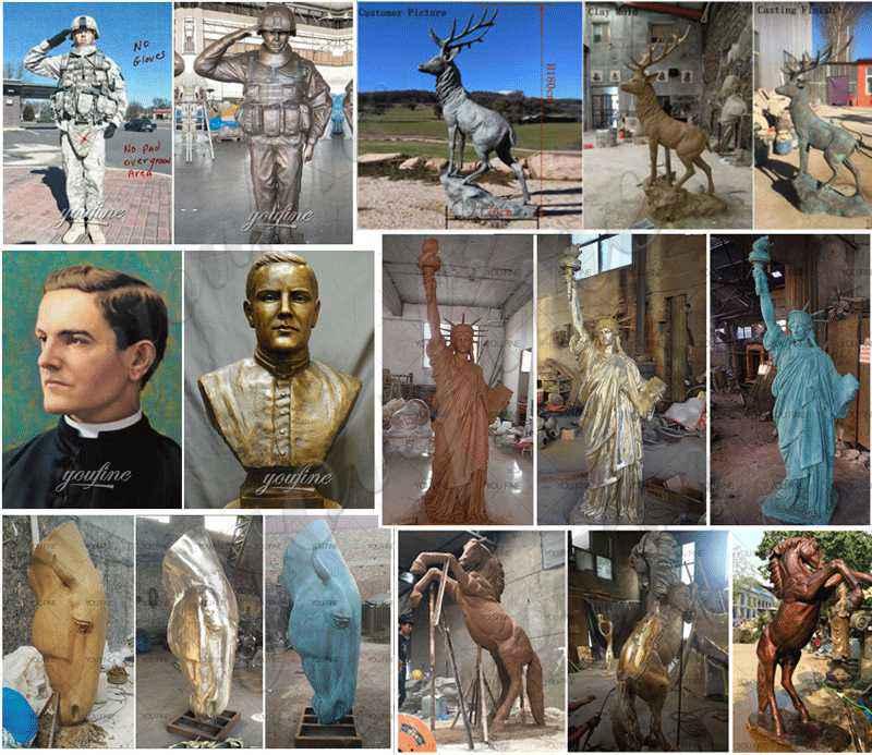 life size bronze statue