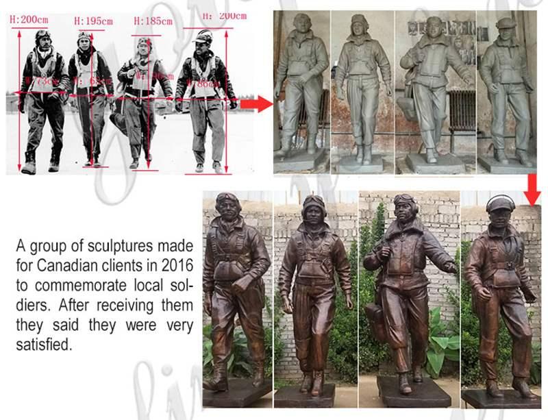 life size military bronze statue,