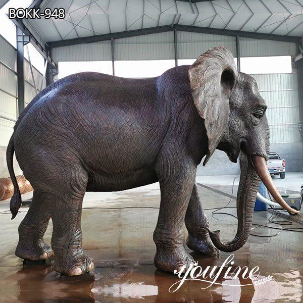 Antique Bronze Elephant Statue Outdoor Garden Decor for Sale