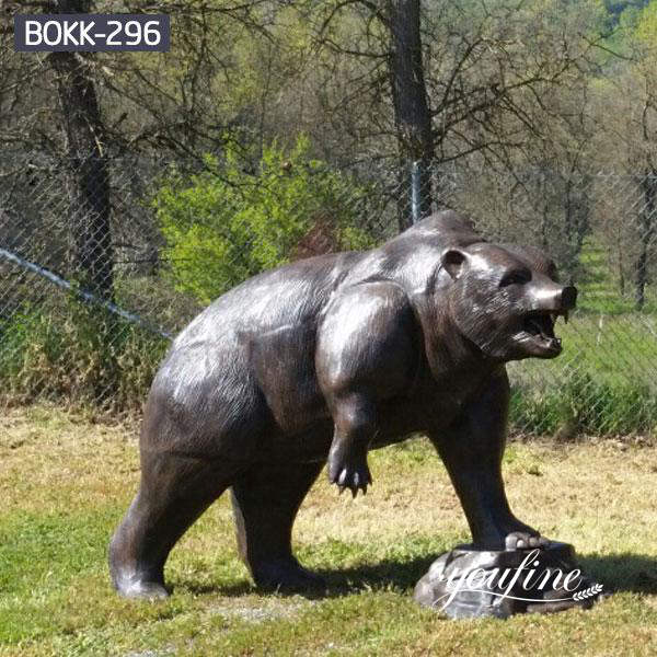 Bronze Life Size Bear Statue Outdoor Garden Supplier BOKK-296