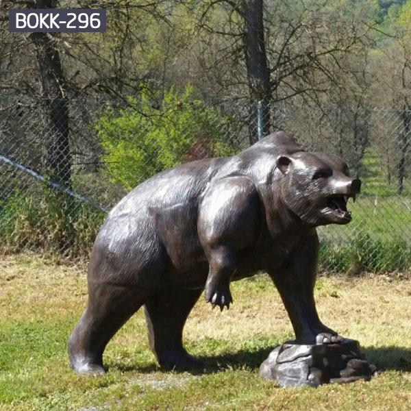 Bronze Life Size Bear Statue Outdoor Garden Supplier BOKK-296