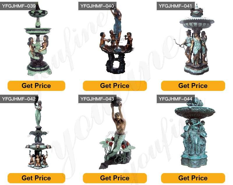 Bronze fountain figure sculpture for sale
