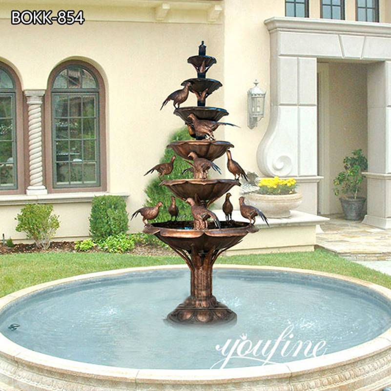 Large Outdoor Tiered Bronze Water Fountain for Sale BOKK-854