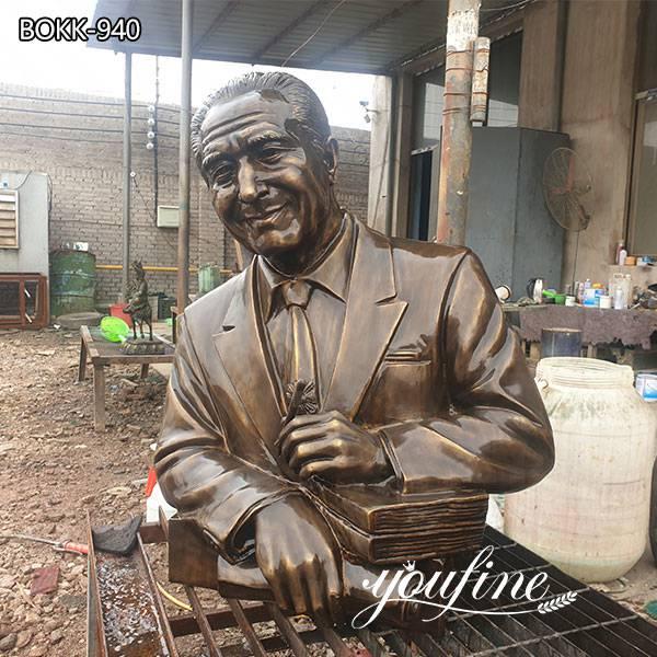 Custom Made Bronze Bust Man Statue f