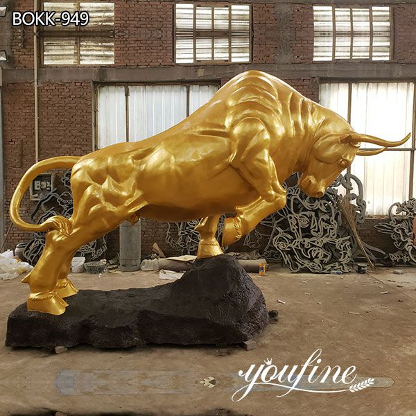 Garden Large Bronze Bull Statue for Sale Landmark Decor
