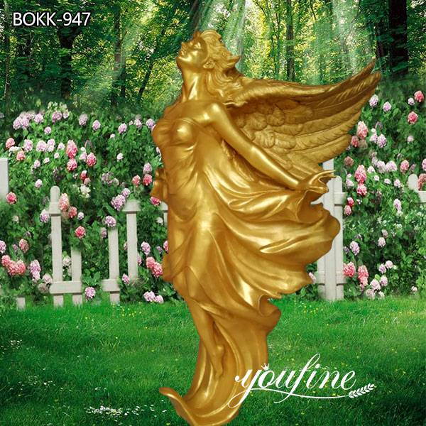 Outdoor Garden Life Size Bronze Flying Angel Statue for Sale BOKK-947