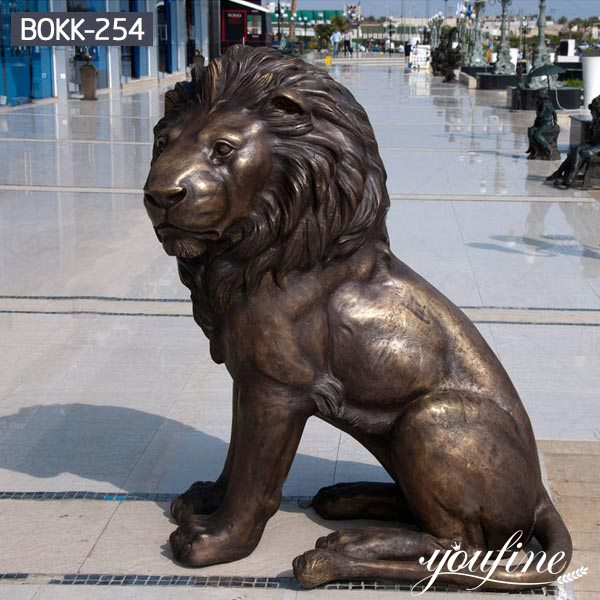 Gate Decoration Large Bronze Lion Statue for Sale BOKK-254