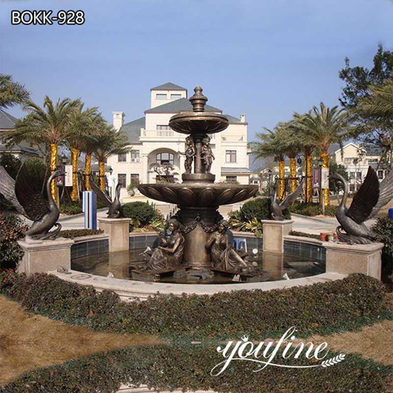 Large Antique Bronze Water Fountain Statues Villa Garden Decor for Sale BOKK-928