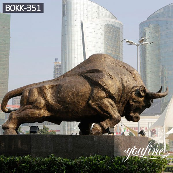 Wholesale Large Bronze Bull Statue SquareDecoration BOKK-351