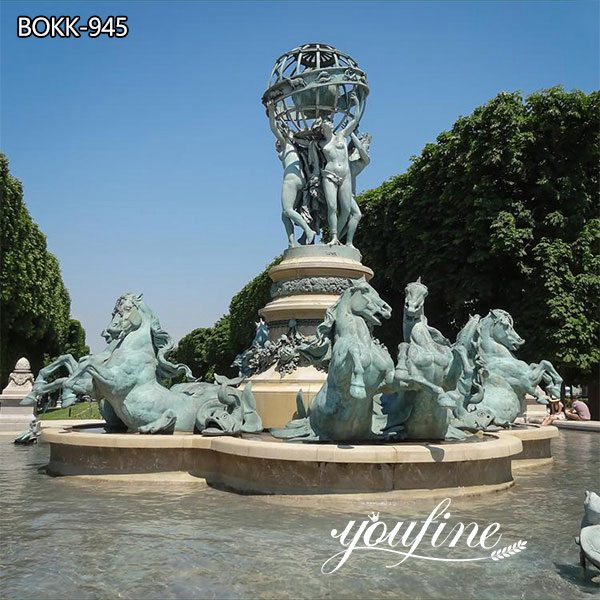 Large Bronze Garden Horse Fountain St
