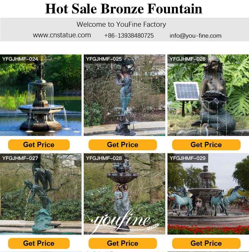 Large Bronze Water Fountain Statues Villa Garden Decor for Sale
