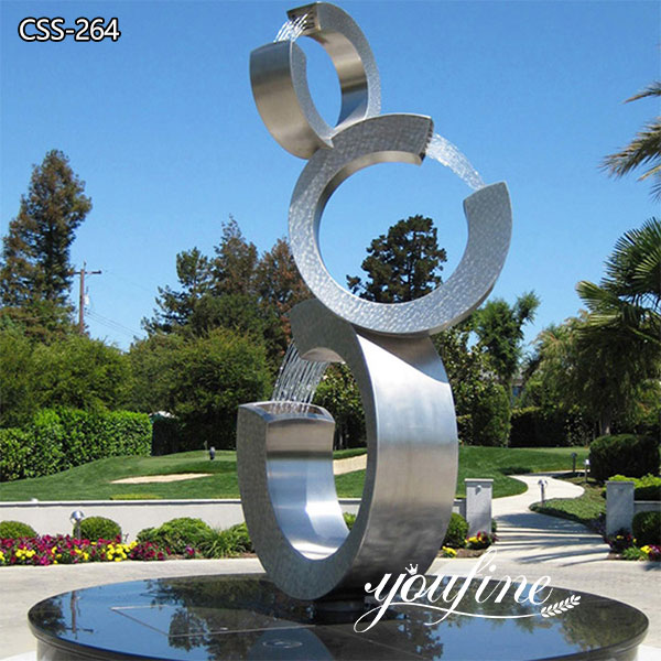 Large Modern Metal Water Fountain Outdoor Garden Art Sculpture for Sale