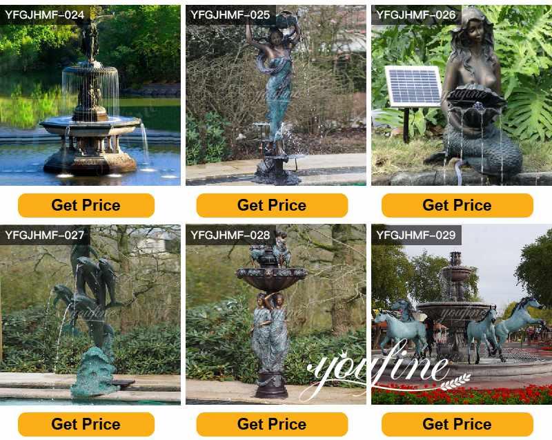 Large Outdoor Garden Antique Bronze Statue Fountain