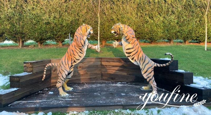 Life Size Outdoor Bronze Tiger Statues for Sale