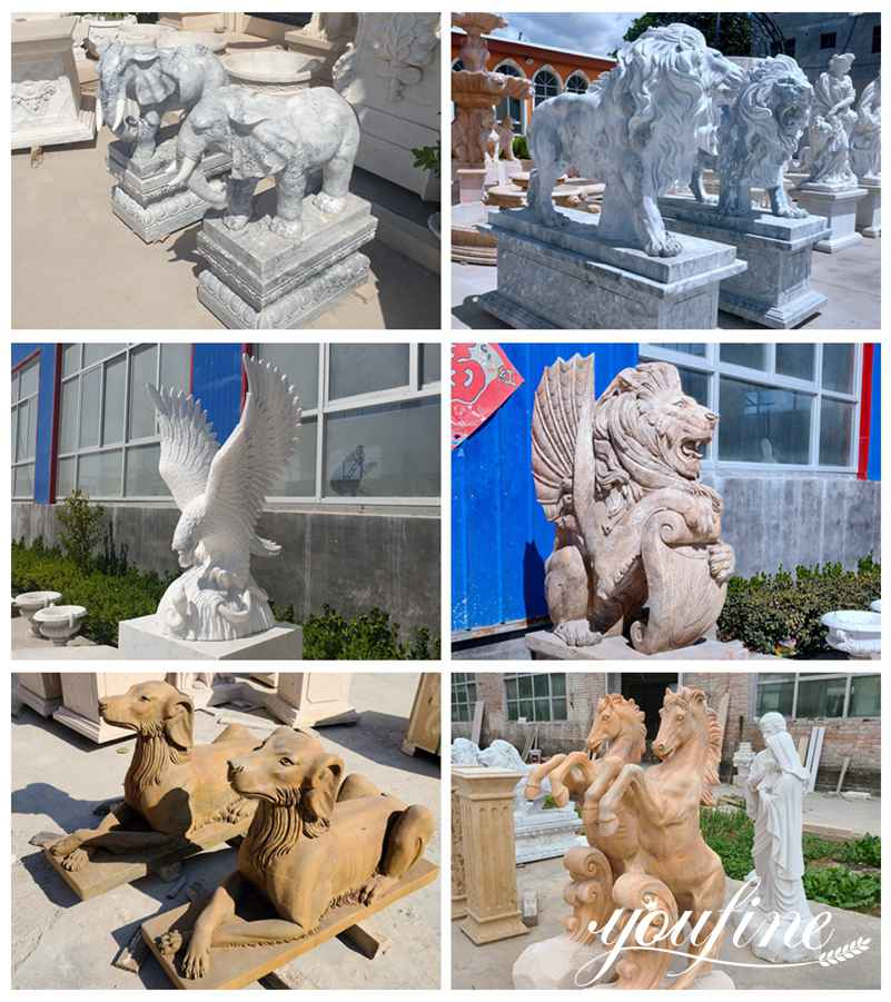 Marble Animal Garden Statue for Sale