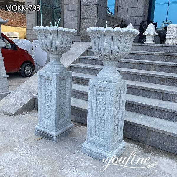 Modern Life Size Marble Flower Pots Outdoor Garden Park Decor for Sale