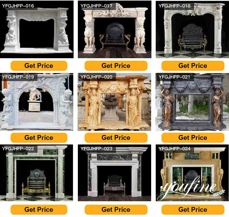 Modern White Marble Fireplace Facing for Sale