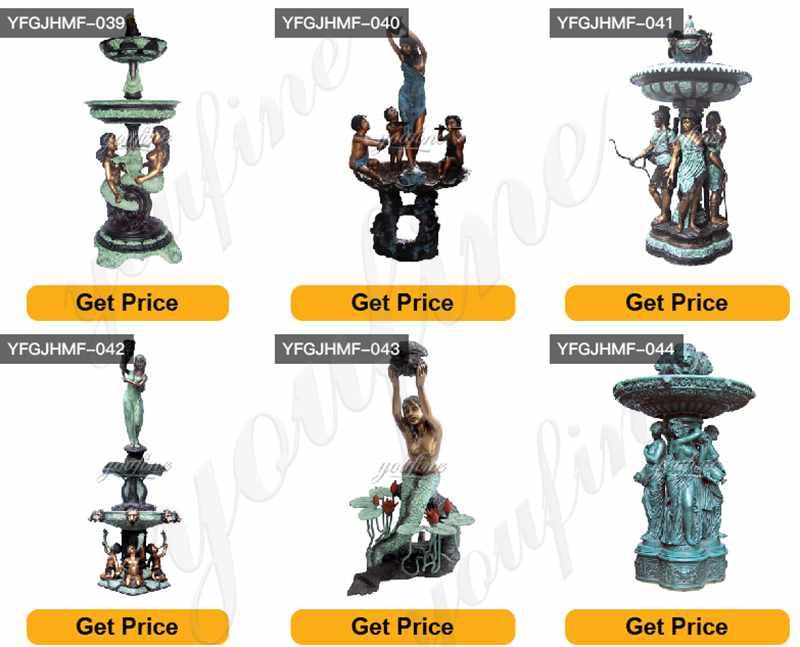 Outdoor Antique Bronze Statues Fountain
