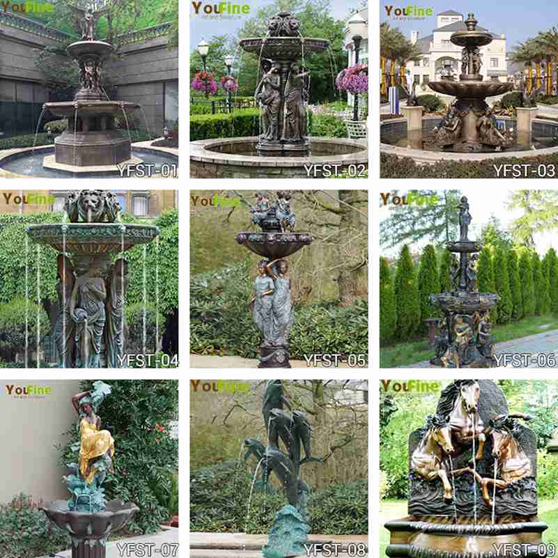 Outdoor Garden Antique Bronze Statue Fountain for Sale